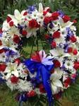 Wreath at the TA Monument, Eisenhower Park Veterans' Memorial