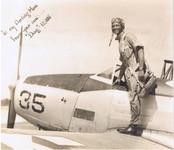 """Flight Officer Douglas McQuillan and BT-17, """"Vultee Vibrator"""""""