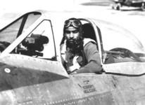 Spann Watson in his beloved P-47, Lockbourne AFB, Ohio